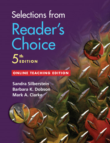Selections from Reader's Choice, 5th Edition